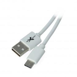 Przewód eXtreme USB 2.0 Typ-C biały - 1m