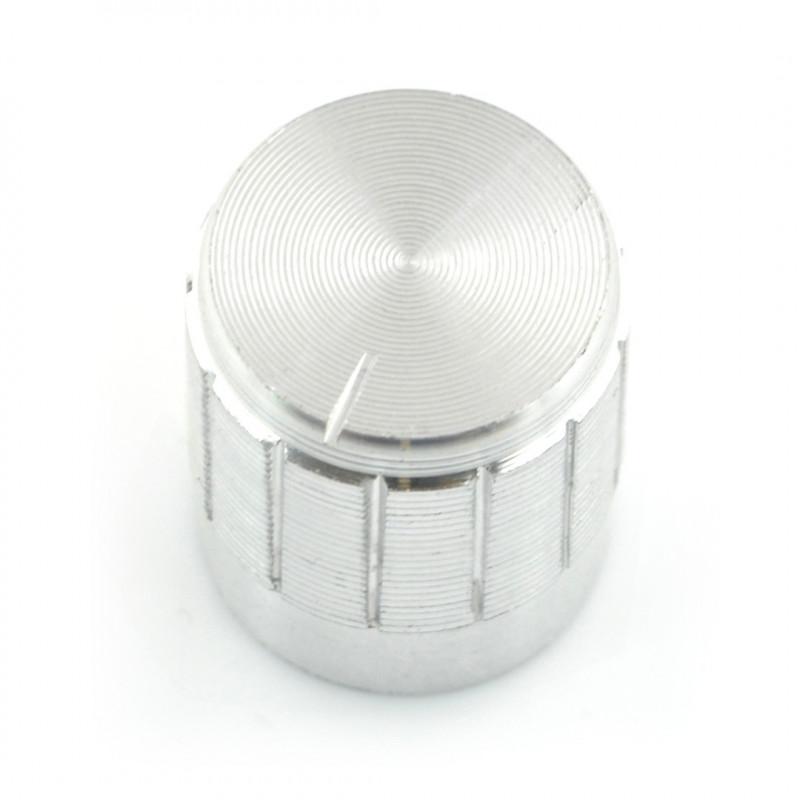 Gałka potencjometru GCL15 srebrna - 6/15mm