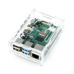 Obudowa Raspberry Pi Model 4B - przezroczysta - LT-4B13