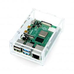 Obudowa Raspberry Pi Model 4B - przezroczysta - LT-4B15