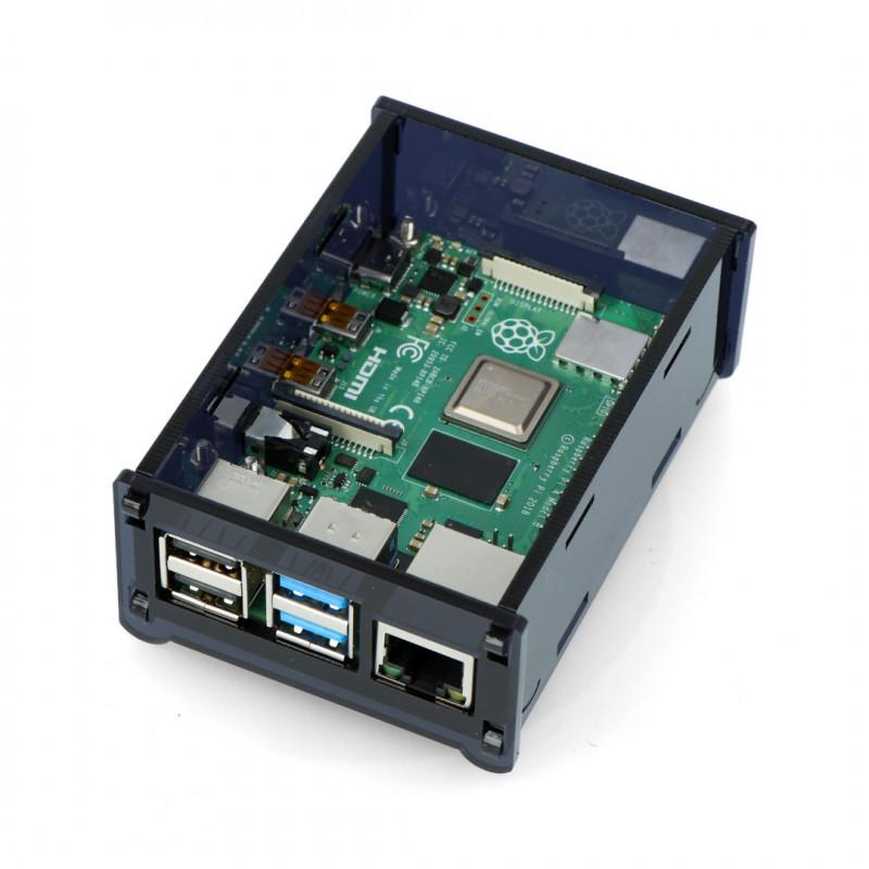 Obudowa do Raspberry Pi 4B - czarna - LT-4B15