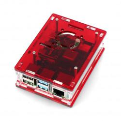 Obudowa Raspberry Pi Model 4B - czerwona - LT-4B16