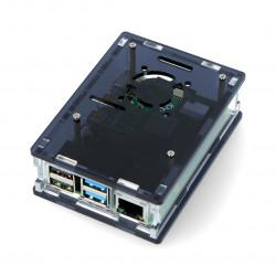 Obudowa Raspberry Pi Model 4B - czarna - LT-4B16