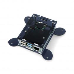 Obudowa Raspberry Pi model 4B Vesa do montażu na monitor - czarno-przezroczysta - LT-4B17