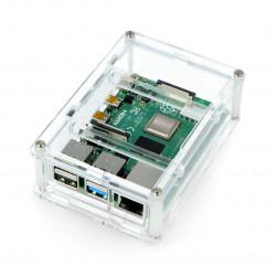 Case for Raspberry Pi Model 4B - przezroczysta - LT-4B18