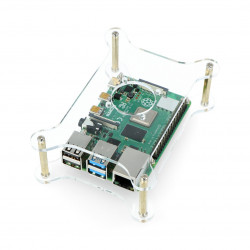 Case for Raspberry Pi Model 4B/3B+/3B/2B open transparent - LT-4B19