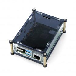 Case for Raspberry Pi Model 4B - black-transparent - LT-4B16