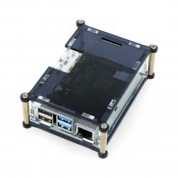 Case for Raspberry Pi Model 4B - black-transparent - LT-4B26