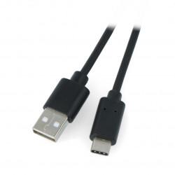 Przewód Lanberg USB Typ A - C 2.0 czarny QC 3.0 - 1m