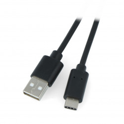 Przewód Lanberg USB Typ A - C 2.0 czarny - 0,5m