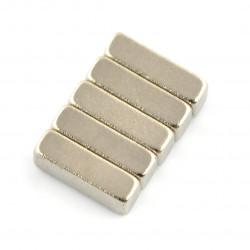 Magnes neodymowy prostokątny - 10x4x3mm - 5szt.