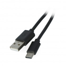 EXtreme USB 2.0 cable Type-C black - 1m