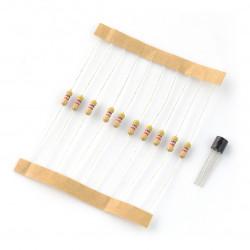 DS18B20 + 10 resistors 4,7kΩ
