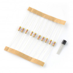 Zestaw czujnik temperatury DS18B20 + 10szt. rezystor 4,7 kΩ