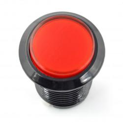 Arcade Push Button 3,3cm - czarny z czerwonym podświetleniem