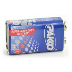 Bateria Pakko Super Heavy Duty 6F22 9V