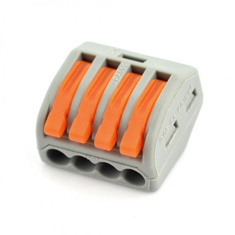 Kostka elektryczna 4pin 32A/400V - pomarańczowa