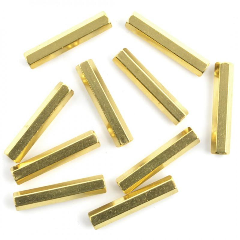 Brass Distance Sleeve - 25mm - 10pcs._