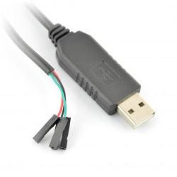 Przejściówka USB na przewody żeńskie z konwerterem USB-UART PL2303