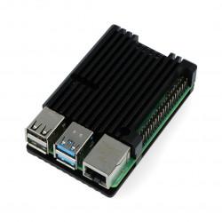 Obudowa do Raspberry Pi 4B - aluminiowa - czarna