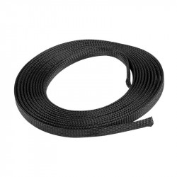Cable sleeve Lanberg 12mm (8-24mm) black polyester 5m