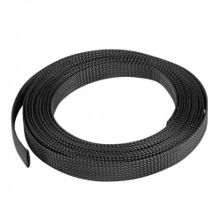 Cable sleeve Lanberg 19mm (14-30mm) black polyester 5m