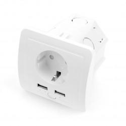 Coolseer COL-WS02WE - WiFi smart plug + 2x USB