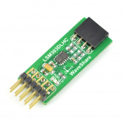 LSM303DLHC - 3-osiowy akcelerometr i magnetometr I2C - moduł Waveshare