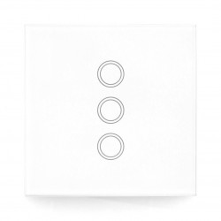 Coolseer COL-BSW08W - triple wireless wall switch - touchable - RF 433MHz