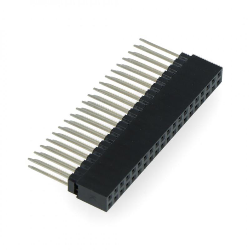 Gniazdo żeńskie 2x20 raster 2,54mm dla Raspberry Pi 4B/3B+3B/3/B+ - długie piny 12mm