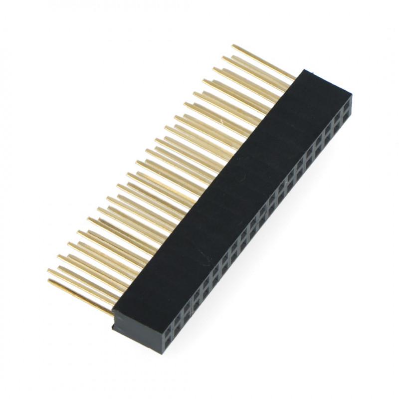 Gniazdo żeńskie 2x20 raster 2,54mm dla Raspberry Pi 4B/3B+/3B/3 - długie piny 10mm