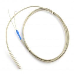 Sonda pomiarowa wysokiej temperatury PT100 - 1 kΩ 6x50mm metalowy oplot