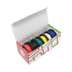 Zestaw przewodów drucianych 22AWG - różne kolory - 6szt.
