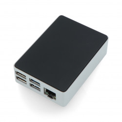 Flirc case for Raspberry Pi 4 - black and silver