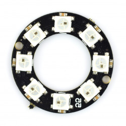 Pierścień LED RGB WS2812 5050 x 8 diod - 32mm