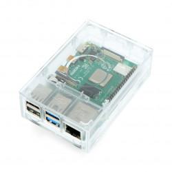 Obudowa do Raspberry Pi model 4B - Multicomp Pro - przeźroczysta