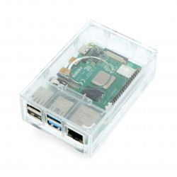 Raspberry Pi 4 case - clear ASM-1900136-01