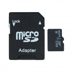 64 GB class 10 microSD card with adapter