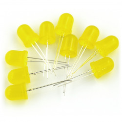 LED 10mm yellow - 10pcs