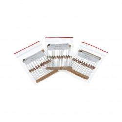 Zestaw rezystorów do diod LED THT 1/4W - 90 szt.