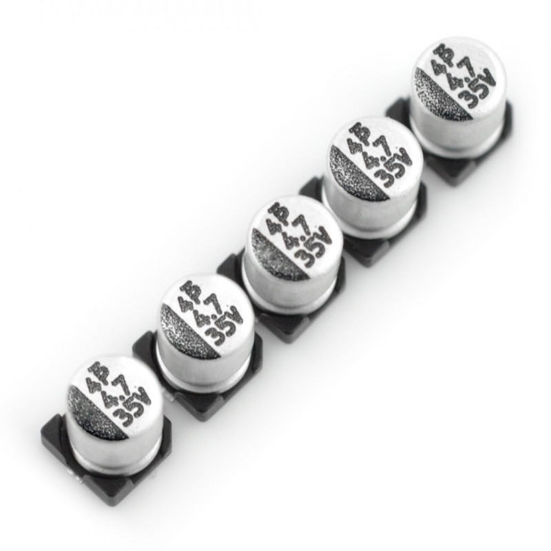 Electrolytic capacitor 4,7uF/35V SMD - 5pcs
