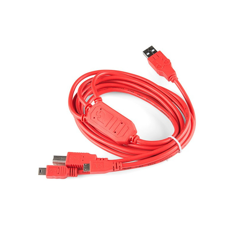 Przewód USB Cerberus 3w1 1,8m - SparkFun CAB-12016