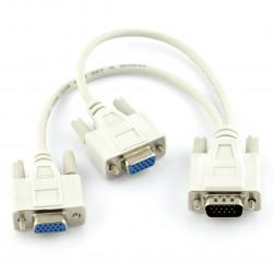 Rozdzielacz sygnału VGA - 2 do 1