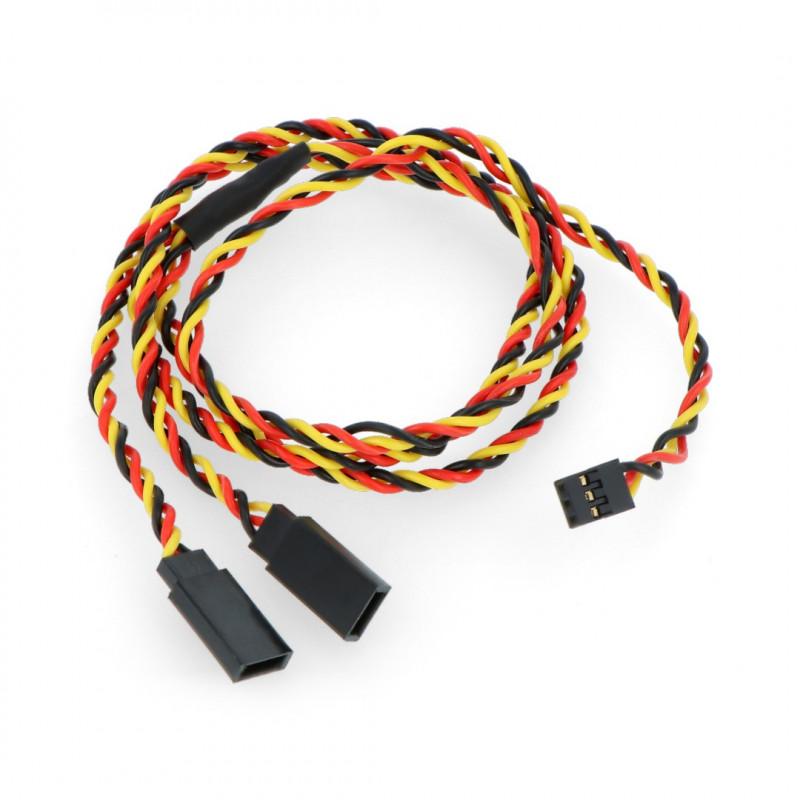 Splitter Wire for Servos Y - 60 cm twisted (JR)_