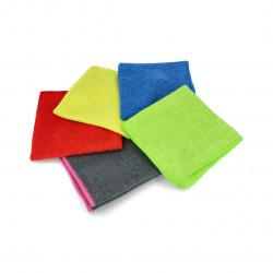 Set of microfibre cloths 30 x 30cm - various colors - 5pcs.