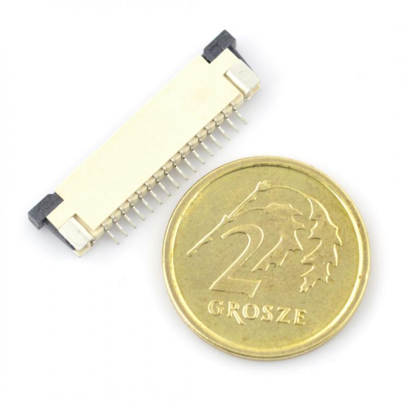 Złącze: FFC / FPC ZIF 16 pin, raster 1mm
