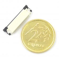 Złącze żeńskie ZIF, FFC/FPC, poziome 24 pin, raster 0,5 mm, górny kontakt