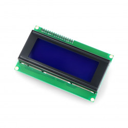 LCD display 4x20 characters blue + I2C converter for Odroid H2