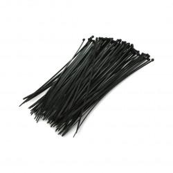 Opaski zaciskowe plastikowe Vorel czarne - 100szt.
