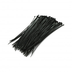 Plastic cable ties Vorel black - 100 pcs.